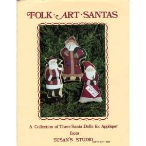 Collection of Three Santa Dolls for Applique) Susan Tinker Books