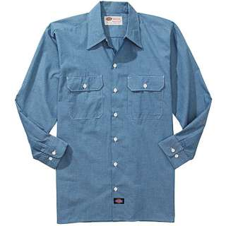 Dickies Mens Long Sleeve Chambray Shirt