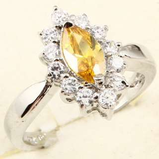 5x7mm MARQUISE CUT YELLOW SAPPHIRE RING