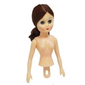 Brown Hair Vinyl Half Dolls   Bed Dolls   Package of 3 Dolls