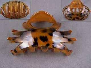 Big oval plastic barrette hair clip claw clamp teeth