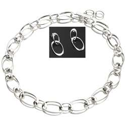 Sterling Silver Infinity Link Jewelry Set (USA)