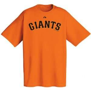 San Francisco Giants Orange Wordmark T Shirt Sports
