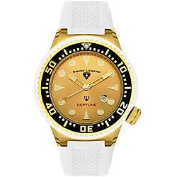 Swiss Legend Mens Neptune White Rubber Watch  Overstock