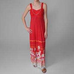 Sangria Womens Floral Print Long Maxi Dress  Overstock