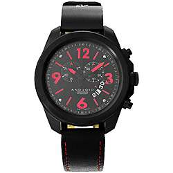 Android Mens Volcano Swiss Chronograph Movement Leather Strap Watch