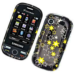Black Yellow Star Samsung Messager Touch Protector Case