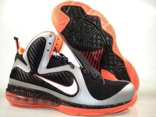 new concept a4d21 07c6d Nike Air Max Lebron 9 Silver   Bright Mango 469764 005 Mens Sizes 8