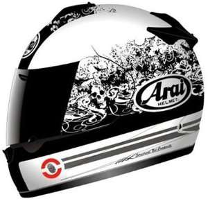 com Arai Vector 2 Motorcycle Helmet   Thrill White Medium Automotive