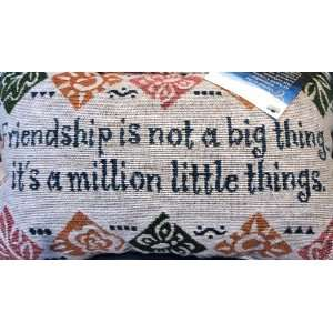 Friendship Is Not a Big Thing Pillow