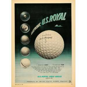 Ad Electronic U.S. Royal Golf Balls Silicone Magic   Original Print Ad