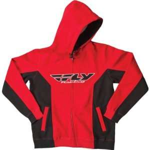 Fly Racing Standard Hoody Black/Red Youth Small/Medium
