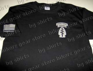 Army Special Forces SOCOM Short Sleeve T shirt BLK S XL
