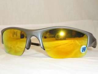 OAKLEY Flak Jacket XLJ Dk Grey Fire Ird POLARIZED new