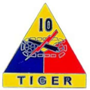 U.S. Army 10th Armored Division Pin 1 Arts, Crafts