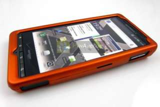 ORANGE Rubberized Hard Case Cover Motorola Droid X X2 2