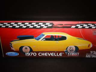 Welly Chevrolet Chevelle Pro Street 1970 Yellow 1/18
