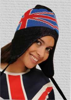 British Flag Union Jack Winter Toggle Hat   SHIPS FROM USA BWTags