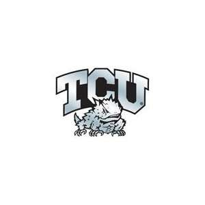 Texas Christian TCU Horned Frogs Silver Auto Emblem