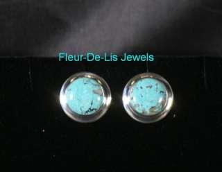 Jay King MINE FINDS Hubei Turquoise Earrings Sterling Silver