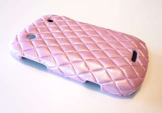 For Blackberry Bold 9900 9930 Pink Diamond Leather Phone Case Cover