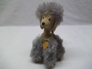 Old Retro 50s Stuffed Toy Poodle Dog Jerry Elsner NY Cute
