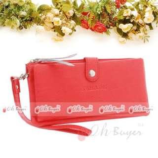 fashion lady gril quality bifold long wallet PU purse