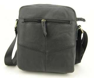 Mens Real Leather Messenger Shoulder Bag Flap Zip Casual Handbag
