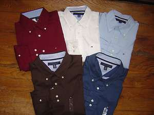 TOMMY HILFIGER LS Mens Dress Shirt Oxford Classic Button Down