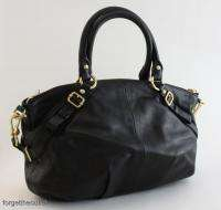 COACH Madison Black Leather SOPHIA Satchel BAG $358