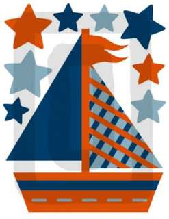 NAUTICAL SAILBOAT BOAT BABY NURSERY WALL STICKERS DECAL