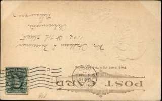 ST PATRICKS DAY American & Irish Flags c1910 Postcard