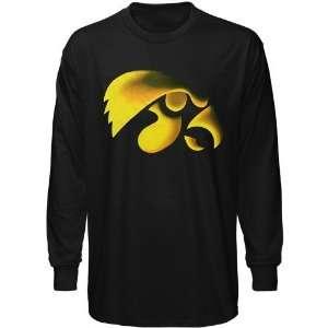 Iowa Hawkeyes Black Blackout Long Sleeve T shirt