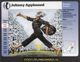 JOHNNY APPLESEED John Chapman Picture Biography CARD