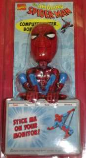 Marvel Comics Spiderman Bobble Head   Computer Sitter