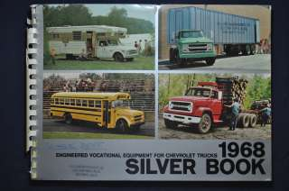 1968 Chevrolet Trucks Silver Book Sales Brochure Chevy Pickup Camper