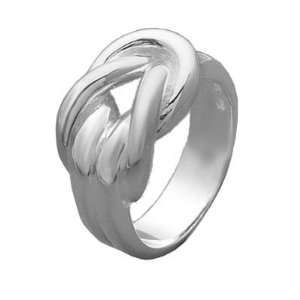 Ladies Sterling Silver Chic Open Lace Knot Ring Jewelry