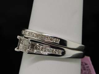 LADIES WHITE GOLD DIAMOND ENGAGEMENT BRIDAL BAND RING
