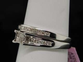 LADIES WHITE GOLD DIAMOND ENGAGEMENT BRIDAL BAND RING