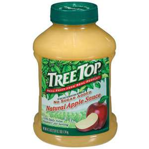 Top Natural No Sugar Added Apple Sauce, 47.3 Oz Canned Goods & Soups