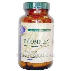 Vitamin B Complex 100 mg 100 Capsules Health & Personal