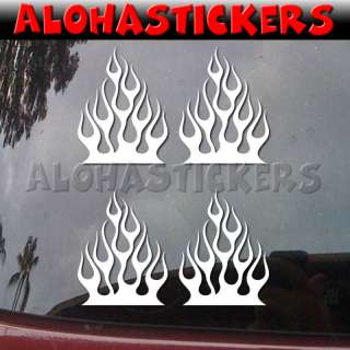 Med HOOD FIRE FLAME Vinyl Decal Car Truck Sticker FL42M