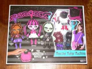 Mattel MONSTER HIGH Fabric Dolls MONSTER MAKER MACHINE