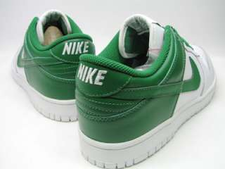 DS NIKE DUNK LOW LEATHER WHITE GREEN SZ 8 supreme sb
