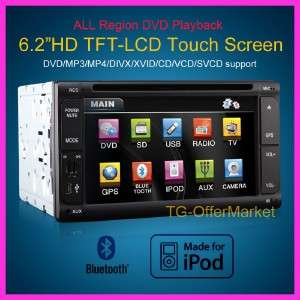 Car DVD Player IPOD/IPHONE FM/RDS BLUETOOTH Dual zone T623