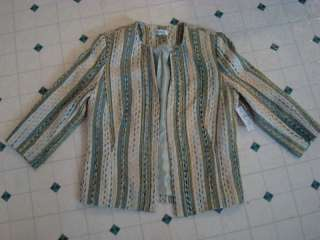 NWT Due Per Due ladies womens 6 dress jacket coat throw