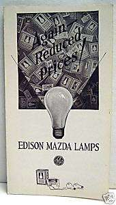 1927 Edison Mazda Lamps Old G E Light Bulb Brochure