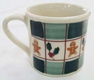 1982 Hartstone GINGERBREAD MAN/HOLLY & BERRIES Mug