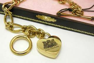 Auth Juicy Couture Gold Heart Charm Bracelet