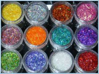 Colorful Glitter Slit Dust Set For Nail Art Decoration